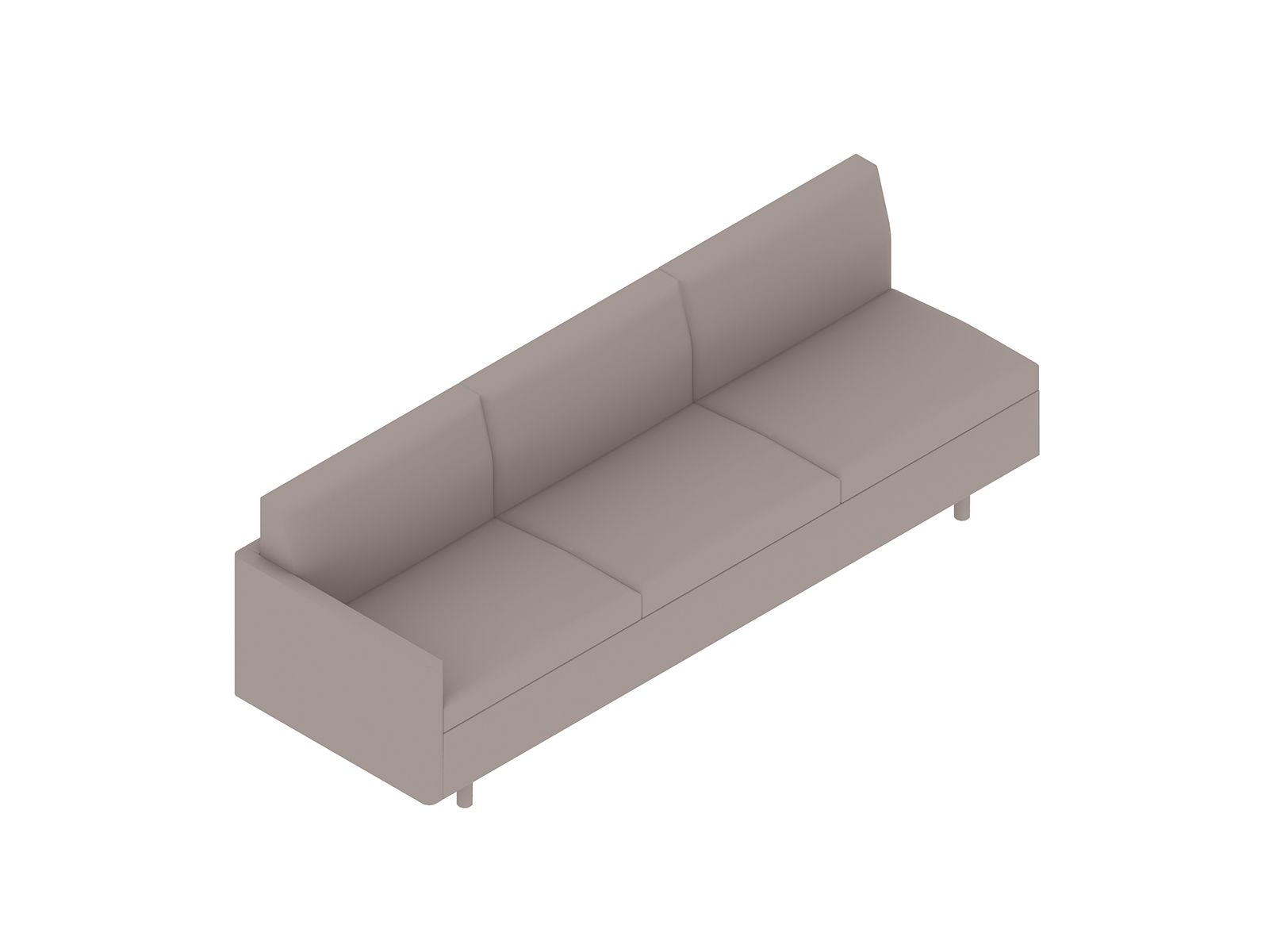 A generic rendering - Tuxedo Classic Sofa–Right Arm