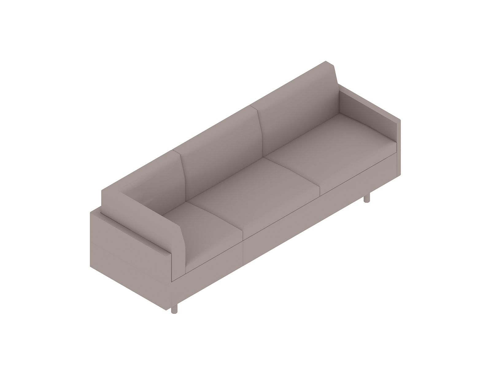 A generic rendering - Tuxedo Classic Sofa–Right Corner–Left Arm