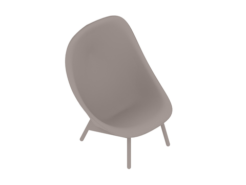 A generic rendering - Uchiwa Lounge Chair