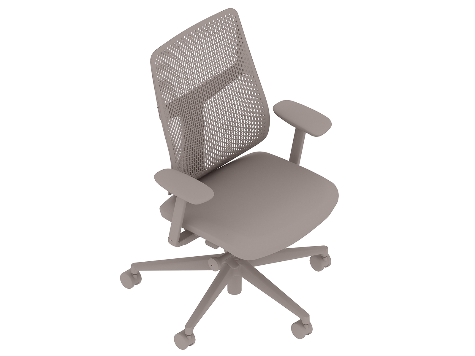 A generic rendering - Verus Chair–Polymer Back–Fixed Arms