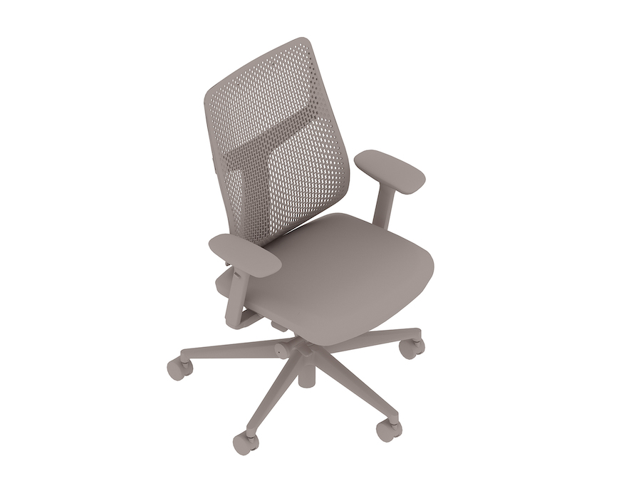 A generic rendering - Verus Chair–Polymer Back–Height Adjustable Arms