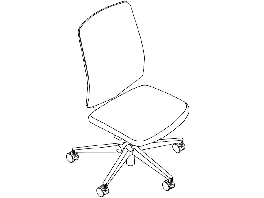 A line drawing - Verus Chair–Suspension Back–Armless