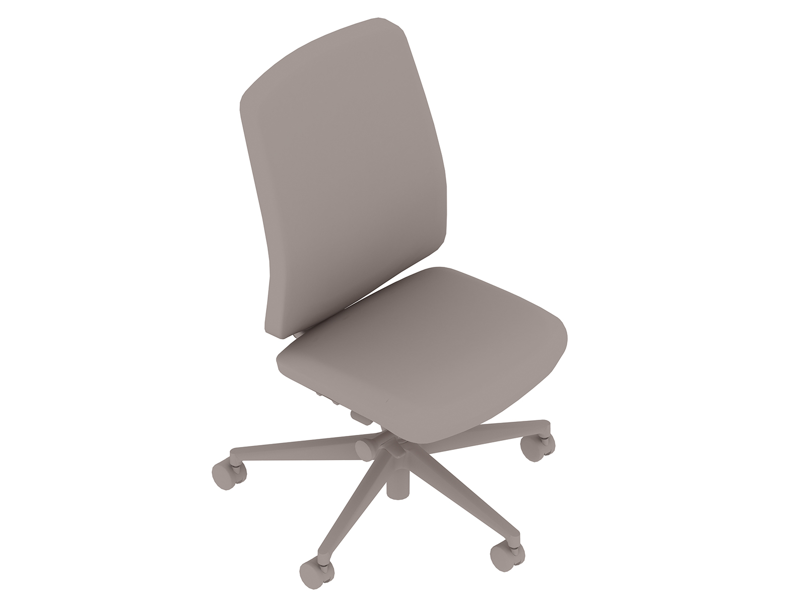 A generic rendering - Verus Chair–Upholstered Back–Armless