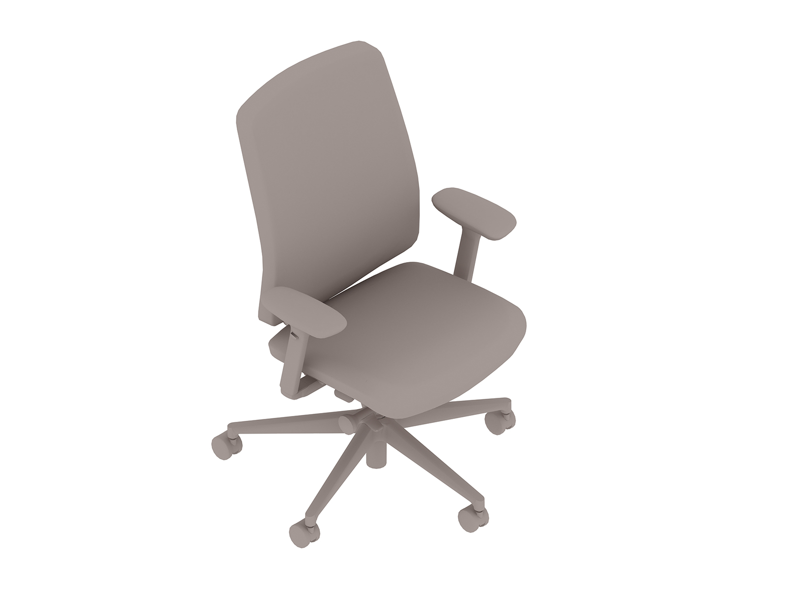 A generic rendering - Verus Chair–Upholstered Back–Height Adjustable Arms