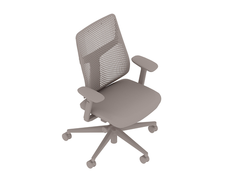 A generic rendering - Verus Chair–Polymer Back–Height-Adjustable Arms