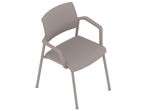 A generic rendering - Verus Side Chair–Upholstered Back–Fixed Arms