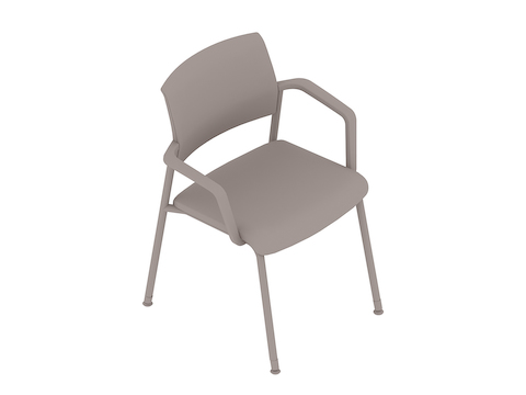 A generic rendering - Verus Side Chair–Suspension Back–Fixed Arms