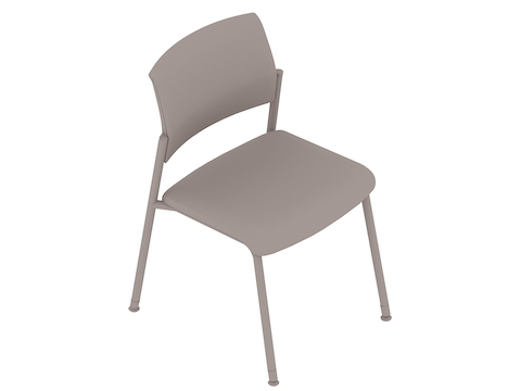 A generic rendering - Verus Side Chair–Upholstered Back–Armless