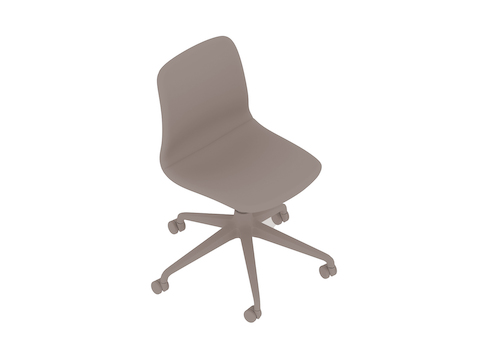 A generic rendering - Viv Chair–Armless–5-Star Caster Base