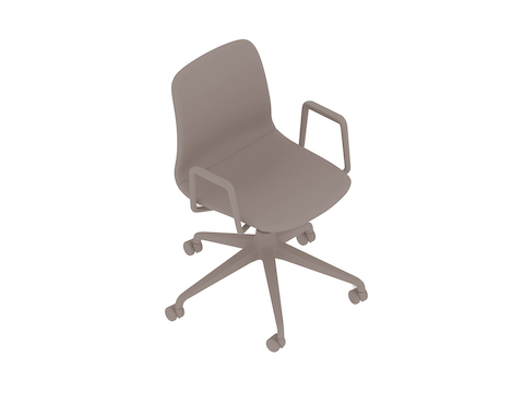 A generic rendering - Viv Chair–With Arms–5-Star Caster Base