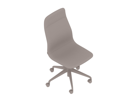 A generic rendering - Viv High-Back Chair–Armless–5-Star Caster Base