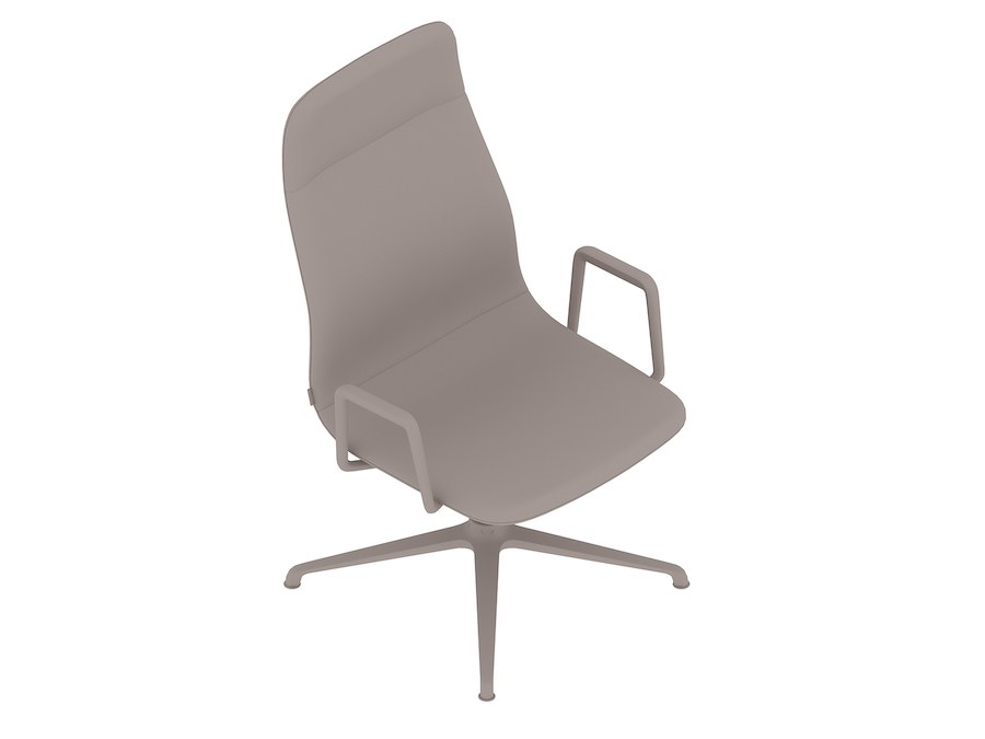 Viv High-Back Side Chair–With Arms–4-Star Swivel Base