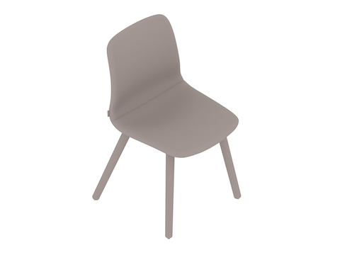 A generic rendering - Viv Side Chair–Armless–Dowel Base