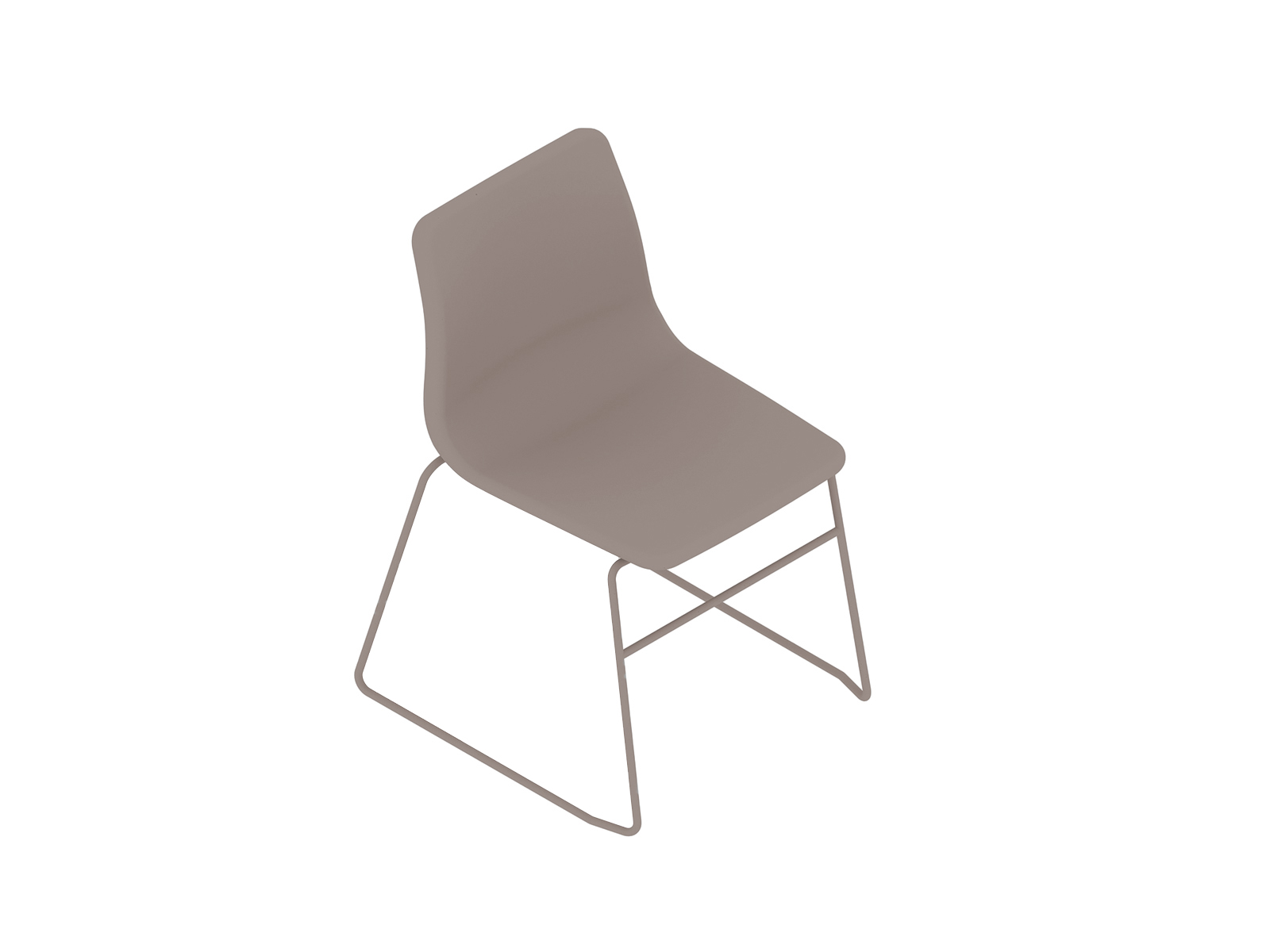 A generic rendering - Viv Side Chair–Armless–Sled Base