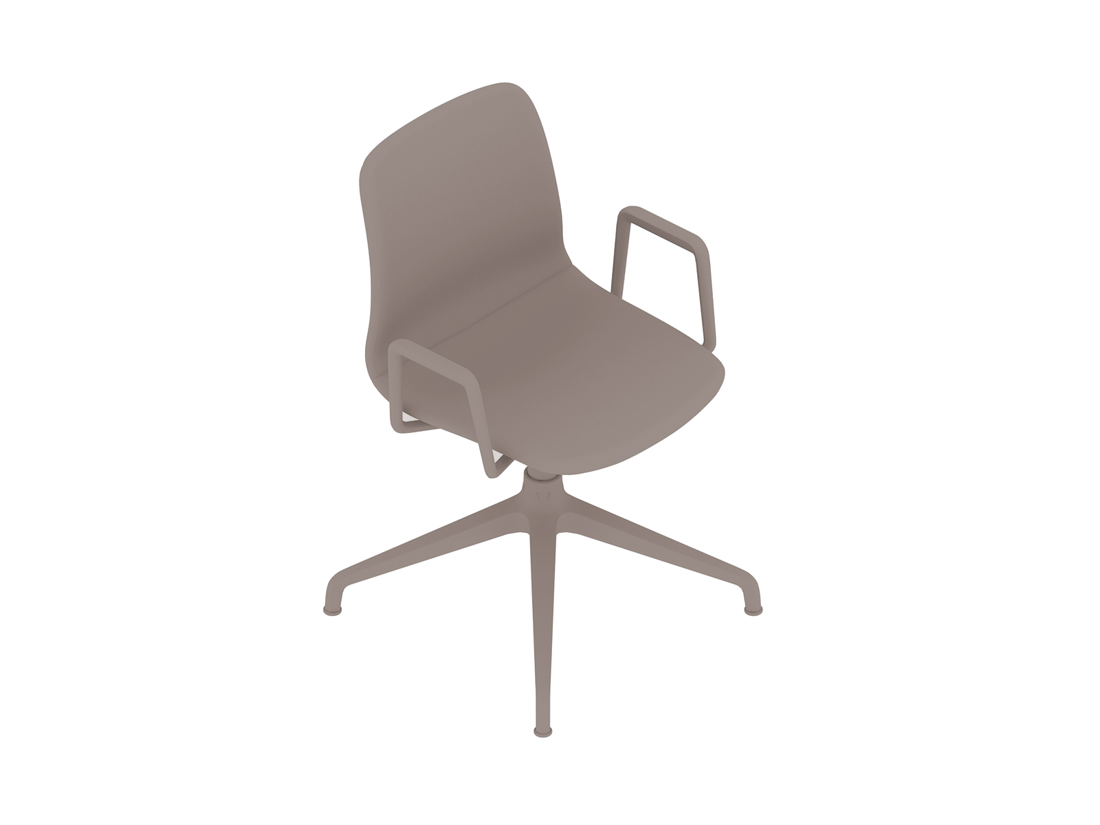 A generic rendering - Viv Side Chair–With Arms–4-Star Swivel Base