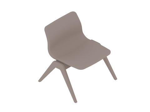 A generic rendering - Viv Wood Lounge Chair
