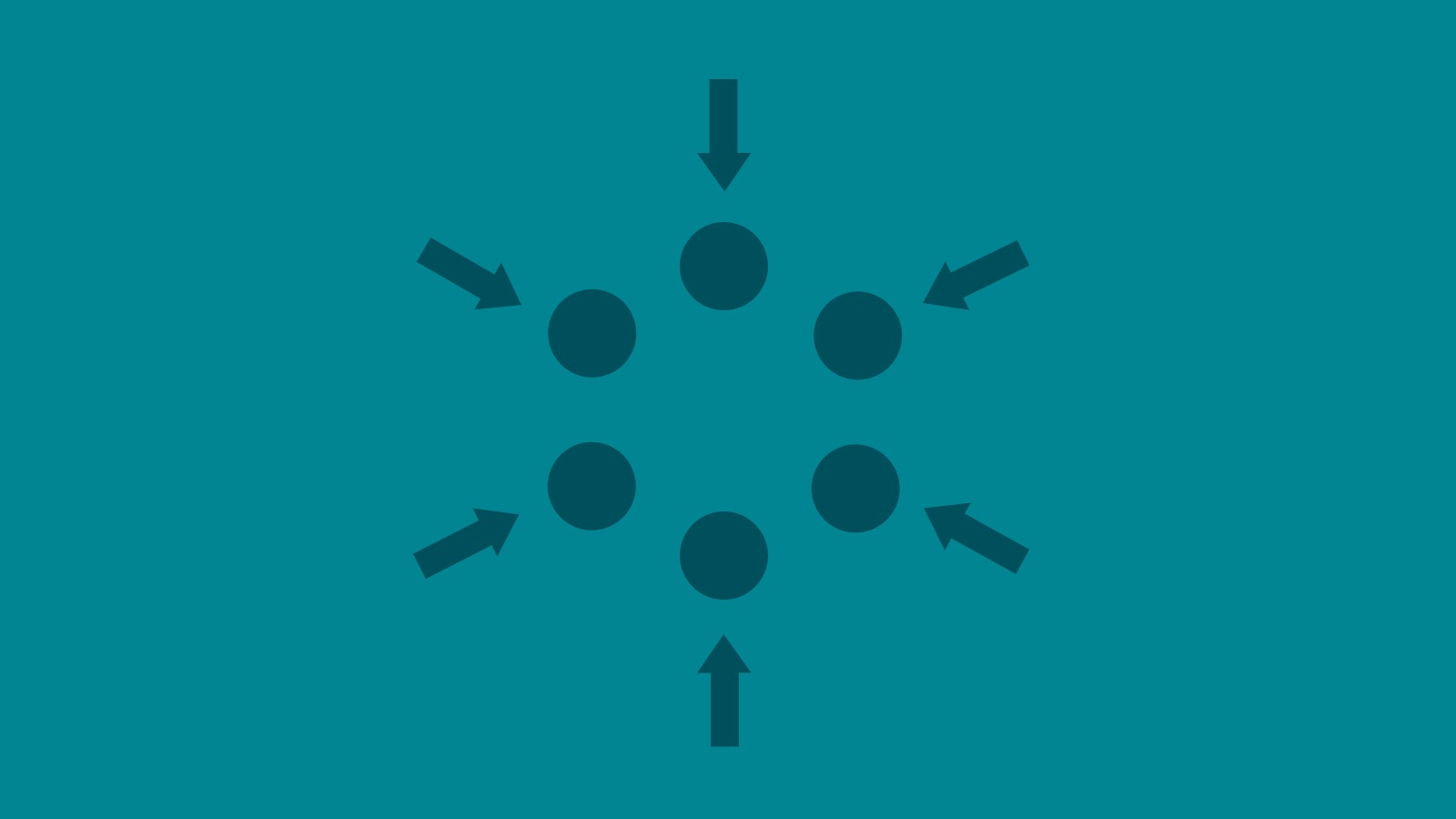Six blue circles are grouped together, with arrows pointing inward to the center, illustrating how Herman Miller's environmental advocacy works.