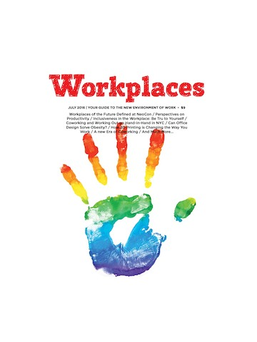 The cover of Workplaces Magazine. Select to download the Workplaces Magazine feature about Herman Miller.
