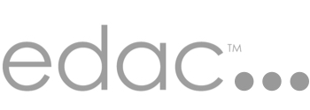The Evidence-Based Design Accreditation and Certification logo with EDAC in gray letters.