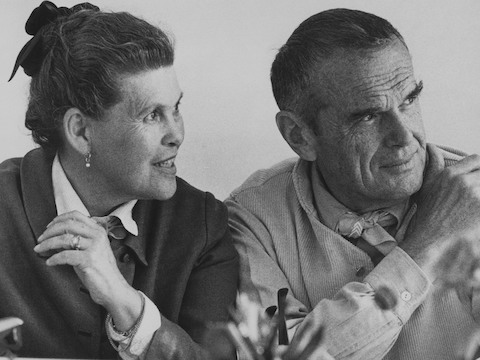 Select to learn more about product designers Ray and Charles Eames and the impact of their iconic products on 20th century design thinking.