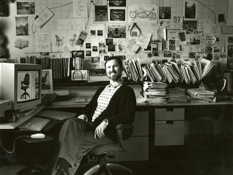Product designer Tom Newhouse in his office.