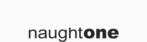 naughtone logomark. naughtone offers contemporary furnishings for workplace, education, and hospitality environments. It's headquartered in Knaresborough in the United Kingdom.
