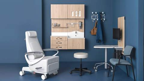 An Exam Room Featuring A Variety Of Products Designed To Foster Meaningful  Conversation Between Patient And