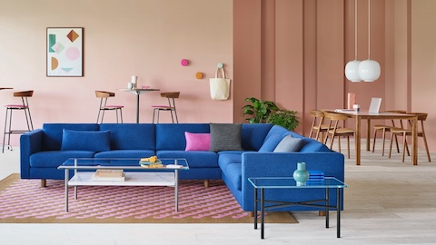 Lispenard Sofa with Leeway side chairs in the background