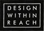 A Design Within Reach logo with white lettering on a black background.