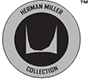 A Herman Miller Collection logo in black and gray.