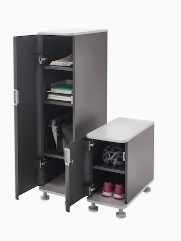Two Atlas Storage units with open doors. Select to go to the Atlas Storage product page.