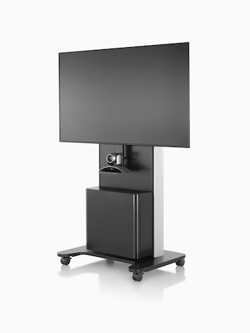 AV/VC One cart with a large digital display and webcam.