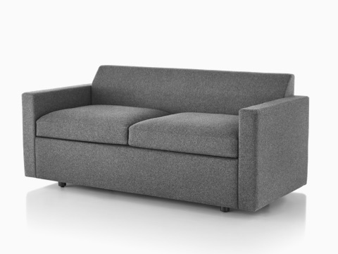 Gray Bevel Sofa, viewed from the front at an angle.