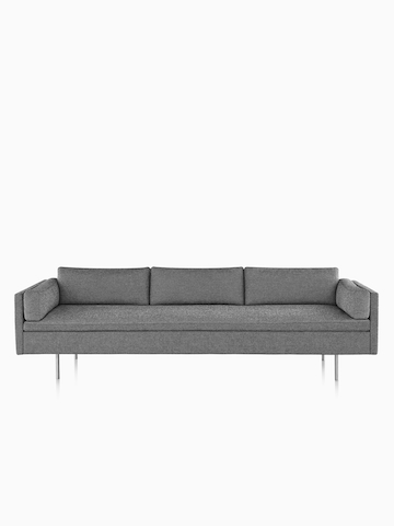 Gray Bolster Sofa.