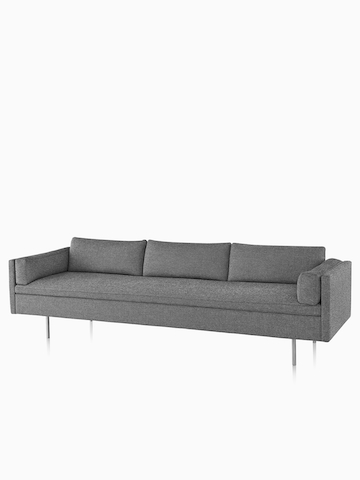 Gray Bolster Sofa. Select to go to the Bolster Sofa Group product page.