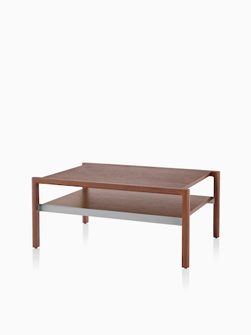 A rectangular Brabo Table with a medium wood finish. Select to go to the Brabo Tables product page.