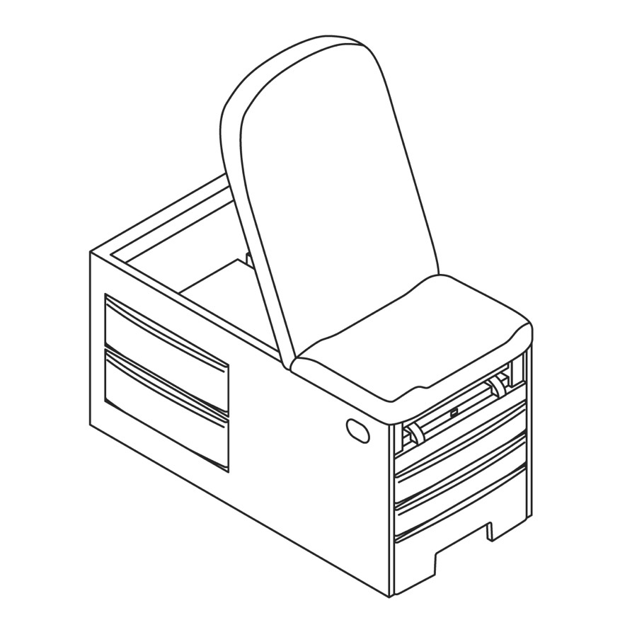 A line drawing of Access Exam Table