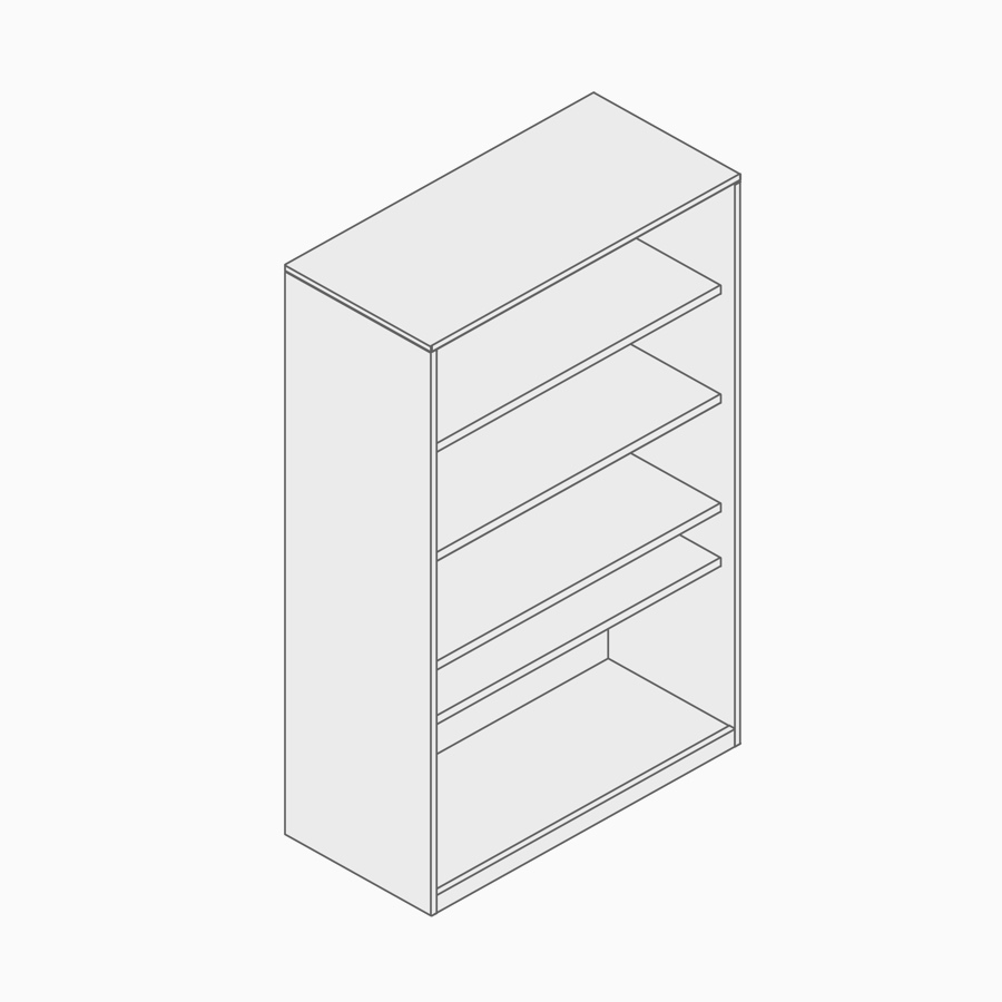 A line drawing of single-sided storage.
