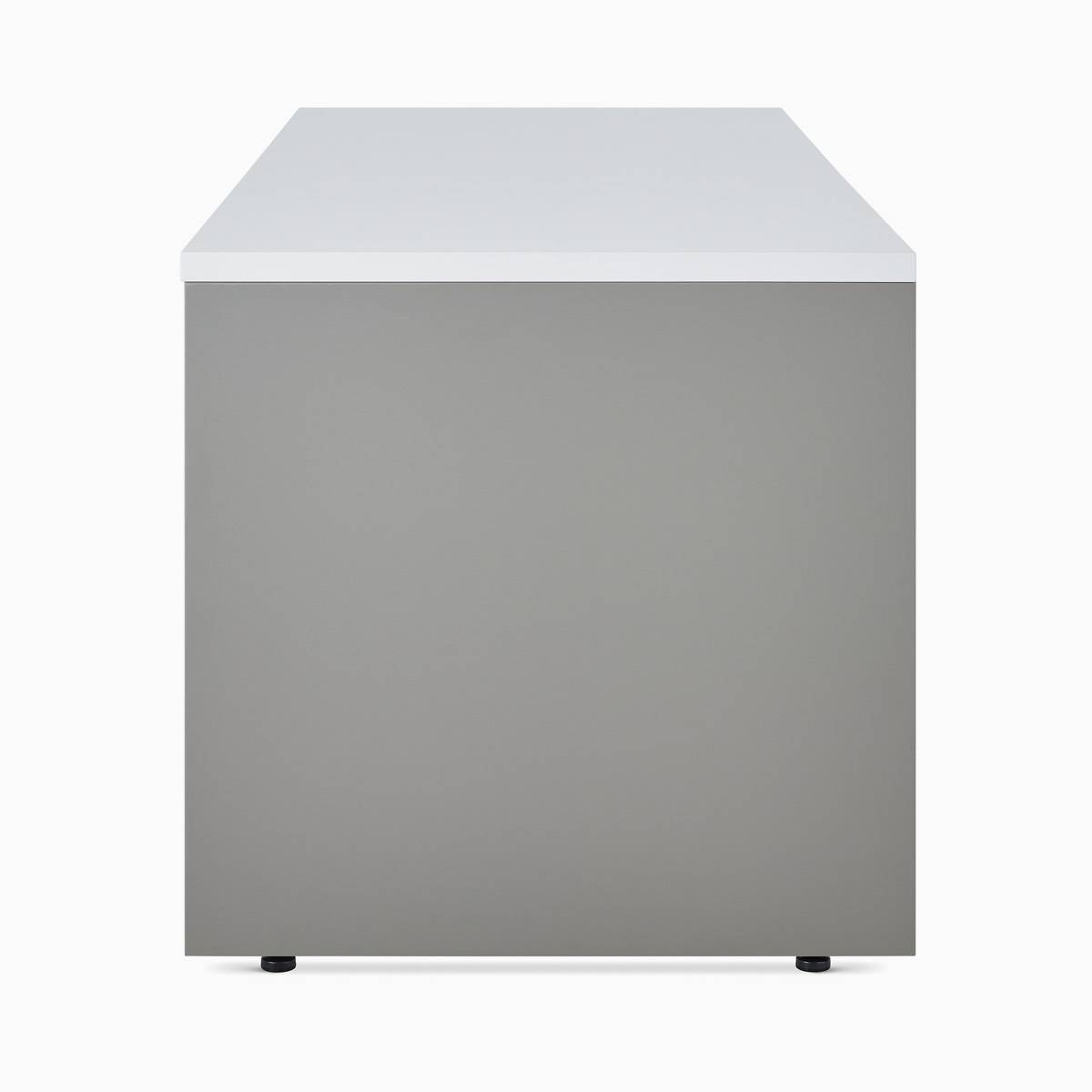 A Canvas Metal Desk rectangular surface.