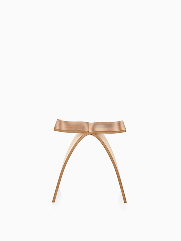 Capelli Stool with a light wood finish.