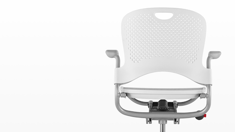 White Caper Multipurpose Chair, viewed from behind.