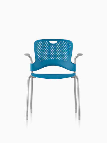 Blue Caper Stacking Chair viewed from the front.  sc 1 st  Herman Miller & Caper - Stacking Chair - Herman Miller