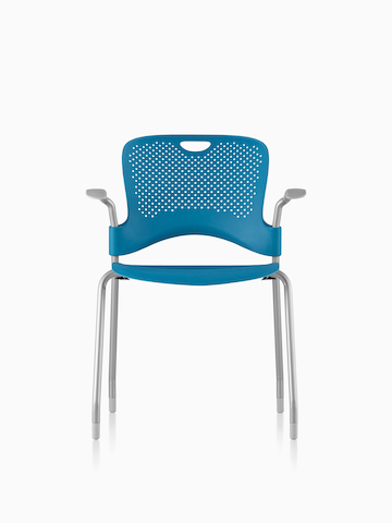 Blue Caper Stacking Chair.