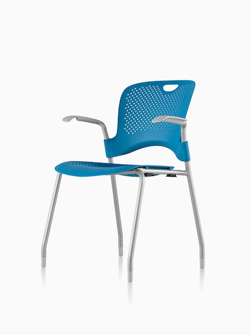 Blue Caper Stacking Chair. Select to go to the Caper Stacking Chair product page.