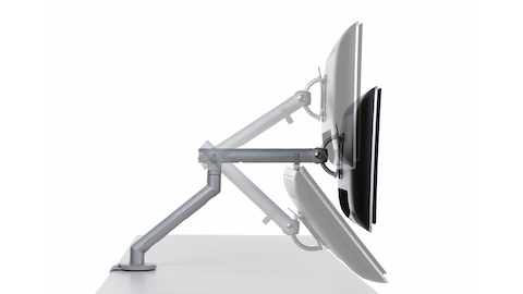 Profile view of a Flo Monitor Arm in various positions. Select to go to the Flo Monitor Arms product page.