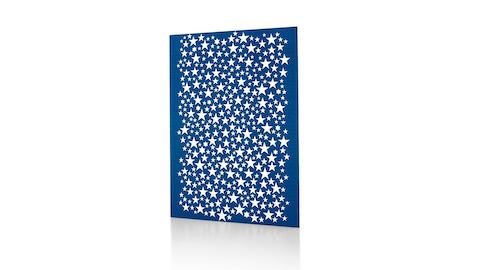 A Girard Environmental Enrichment Panel featuring a silkscreen image of white stars on a blue background. Select to go to the Girard Environmental Enrichment Panels product page.