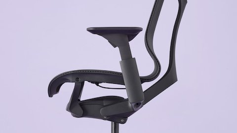 Close-up of the Cosm Chair's side profile.