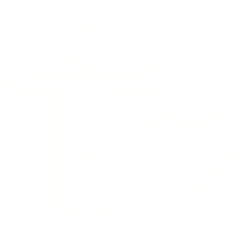 White illustrated icon of a person and a heart to indicate wellness.