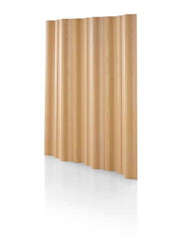 An Eames Molded Plywood Folding Screen with a light ash wood finish. Select to go to Freestanding Screens.