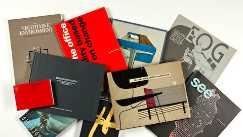 A sampling of Herman Miller literature about the changing landscape of work.
